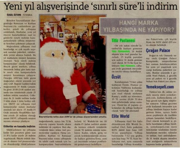 Özgül ÖZTÜRK'ün 17.11.2009'da Firmamızla İlgili Haberi